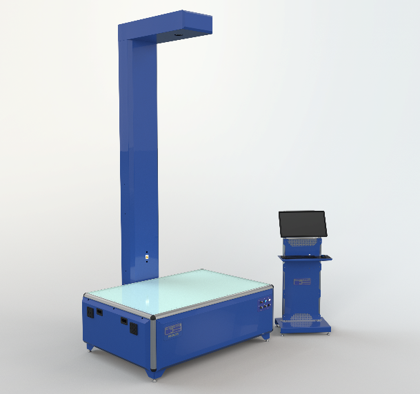Representation of 2D Inspecvision Scan Bed