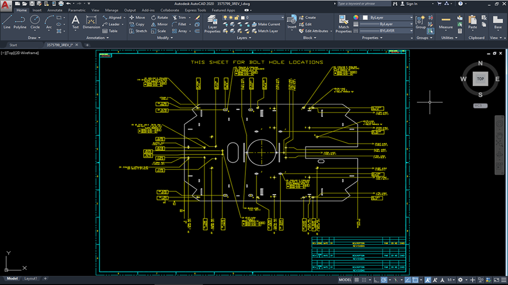 Design Specifications in AutoCAD Program